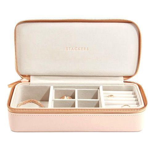 Cestovní puzdro na šperky Stackers, Světle růžové, Travel Jewellery Box Large