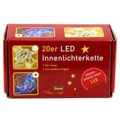 Idena Lahka veriga , notranji, LED, barvni, 3,40m