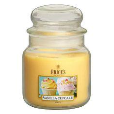 Price's Candles Sveča v steklenem kozarcu Sveče, Vaniljeva piškota, 411 g