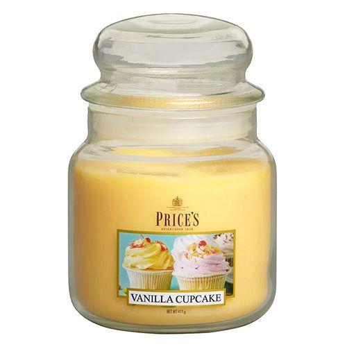 Price's Candles Svíčka ve skleněné dóze Price´s Candles, Vanilkový košíček, 411 g