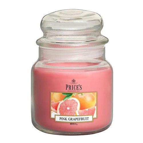 Price's Candles Sveča v steklenem kozarcu Sveče, Roza grenivka, 411 g