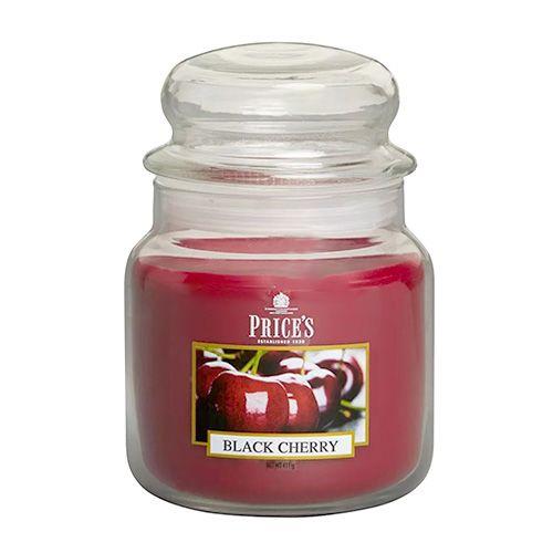 Price's Candles Sveča v steklenem kozarcu Sveče, Črna češnja, 411 g