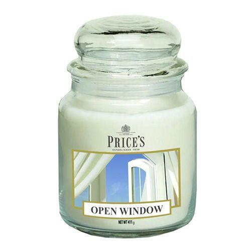 Price's Candles Sveča v steklenem kozarcu Sveče, Odprto okno, 411 g