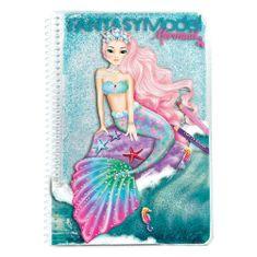 Fantasy Model Omalovánky , Mořská panna, tyrkysové