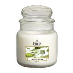 Price's Candles Sveča v steklenem kozarcu Sveče, Beli mošus, 411 g