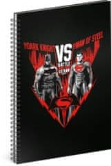Grooters Špirálový blok Batman vs Superman, linajkovaný, A4