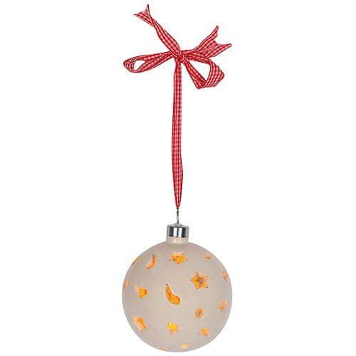 Idena Kulki dekoracyjne , z 10 żarówkami LED, pętla o długości 150 cm do zawieszenia