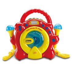 Idena CD prehrávač , Žlto/červený, 2 mikrofóny