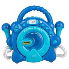 Idena Odtwarzacz CD , Niebieski, 2 mikrofony