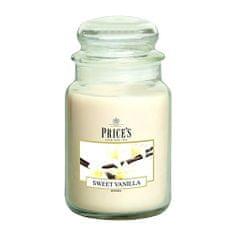 Price's Candles Sveča v steklenem kozarcu Sveče, Sladka vanilija, 630 g