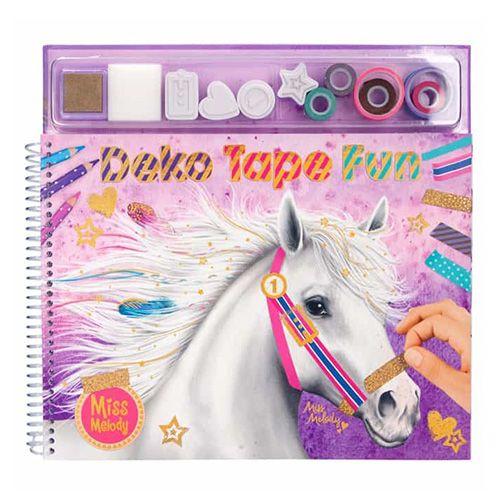 Miss Melody Kolorowanka, kreatywny zestaw , Taśma Deko Fun, kolorowe taśmy, znaczki