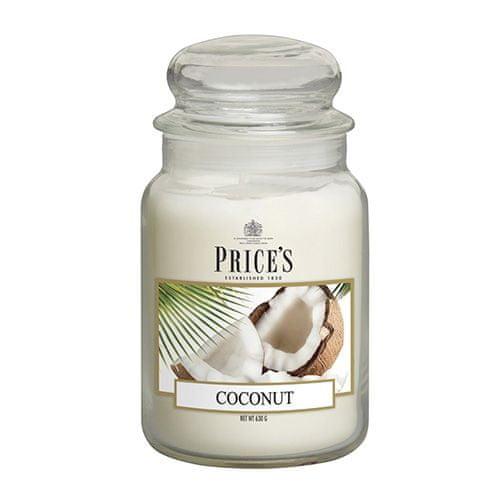 Price's Candles Sveča v steklenem kozarcu Sveče, Kokos, 630 g