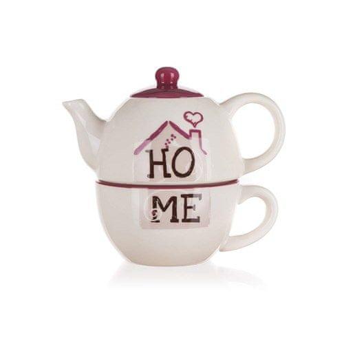 Banquet keramični čajnik s skodelico HOME Coll.