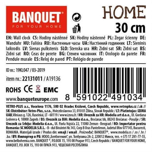 Banquet Nástěnné hodiny HOME Coll. 30 cm