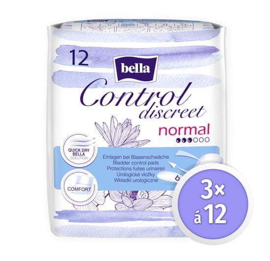 Bella Control Discreet Normal 12 ks × 3