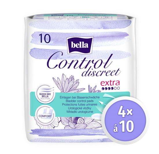 Bella Control Discreet Extra á 10 ks × 4
