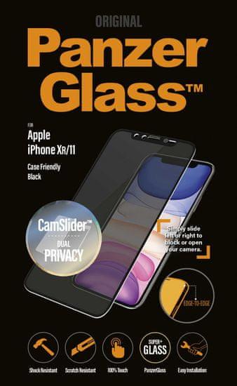 PanzerGlass zaštitno staklo Edge-to-Edge Privacy pro za Apple iPhone Xs Max/11 Pro Max, P2669, crna, CamSlider