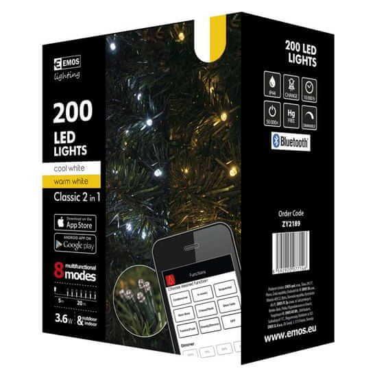 Emos božične lučke, 200 LED, 20 m, z aplikacijo
