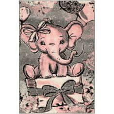 Jutex Detský koberec Playtime 4841A ružový 1.50 x 0.80