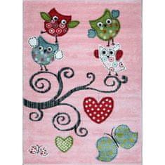 Jutex Detský koberec Playtime 0420A ružový 1.50 x 0.80