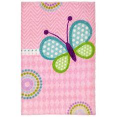 Jutex Detský koberec Lollipop 184 motýľ 1.30 x 0.90