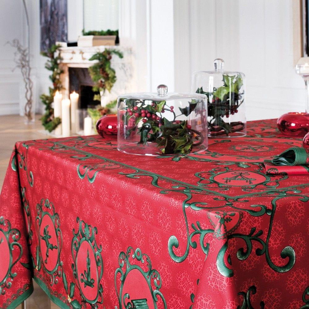 Beauvillé WINTER ubrus Barva: červená, Délka cm: 170, Průměr/Šířka cm: 170