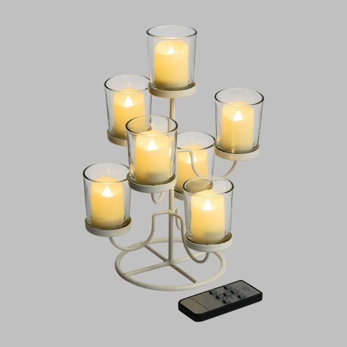 Cdiscount LED svícen s dálkovým ovládáním