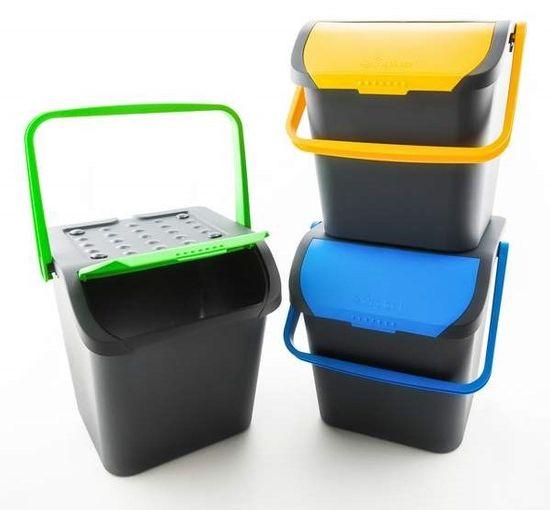 BRILANZ Eco koš za sortiranje odpadkov, 28 l, moder