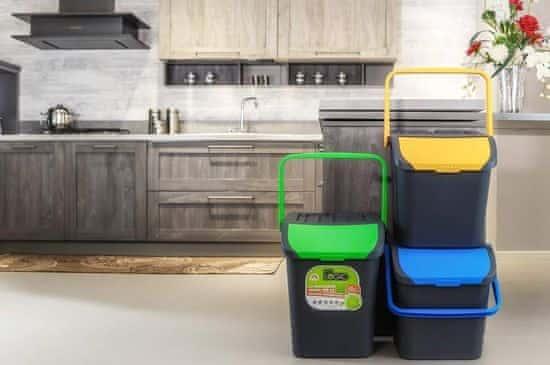 BRILANZ Eco koš za sortiranje odpadkov, 35 l, moder