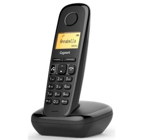Gigaset -A270-BLACK - DECT/GAP bezdrátový telefon, barva černá