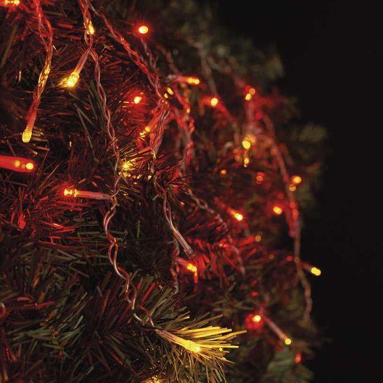 Emos povezovalni niz, zavesa, 100 LED, 2,5 m, vintage/rdeča - Odprta embalaža
