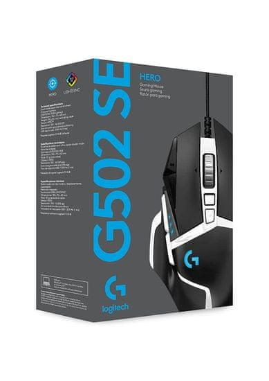 Logitech G502 SE gaming miška, HERO, RGB, USB