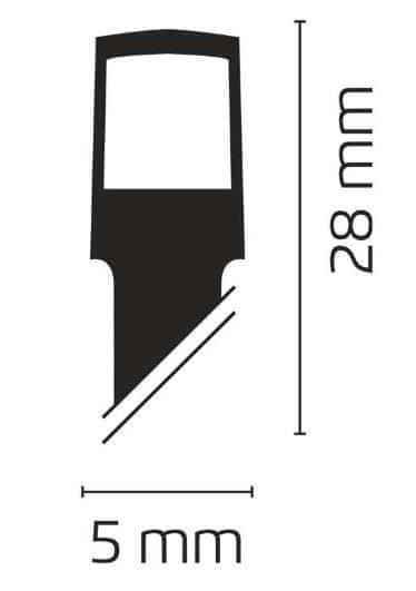 Emos povezovalni niz, zavesa, 100 LED, 1x 2 m, topla bela