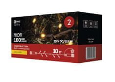 Emos Profi 100 LED povezovalni niz, 10 m, IP44, toplo bela, črn