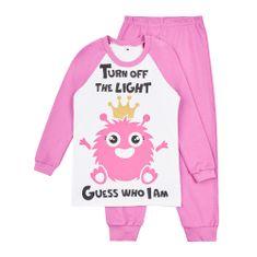 Garnamama dívčí svítící pyžamo Neon 110 růžová
