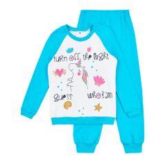 Garnamama dívčí svítící pyžamo Neon 110 modrá