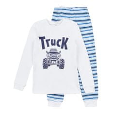 Garnamama chlapecké svítící pyžamo Neon 122 bílá, modrá