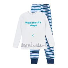 Garnamama chlapecké svítící pyžamo Neon 110 bílá, modrá