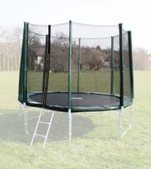 Goodjump Ochranná síť na trampolínu 366 cm - PVC - na 8 trubek- zelená