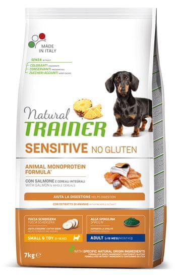 TRAINER karma dla psów Natural SENSITIVE Bez glutenu Adult Mini łosoś, 7 kg