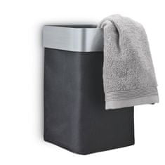 Blomus NEXIO černý nástěnný koš na použité ručníky matný