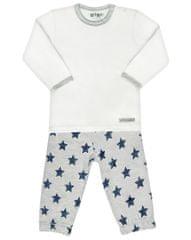 Nini pidžama za dječake, bijelo-siva, 80