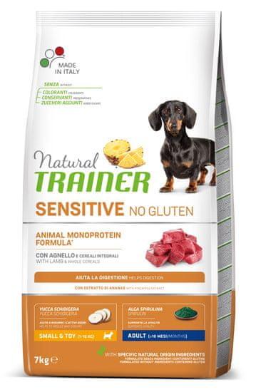 TRAINER Sensitive No Gluten Adult Mini jagnięcina&ryż 7 kg