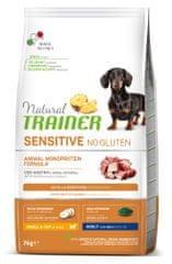 TRAINER Natural Sensitive No gluten Adult Mini briketi za odrasle pse, raca, 7 kg