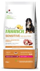 TRAINER Natural Sensitive No gluten Puppy&Jun M/M pasji briketi za mladiče, raca, 12 kg