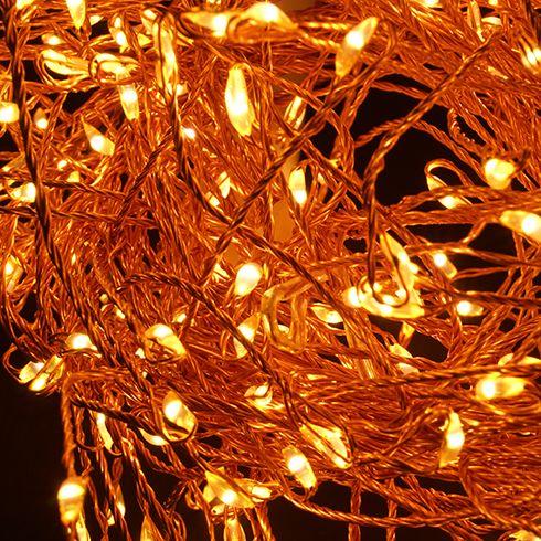 Emos 288 LED Cluster Nano grozd svetlobna veriga, 2,4 m, IP44, vintage bela, s časovnikom, bakrena