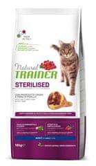 TRAINER Natural Cat Sterilised briketi za sterilizirane mačke, pršut, 10 kg
