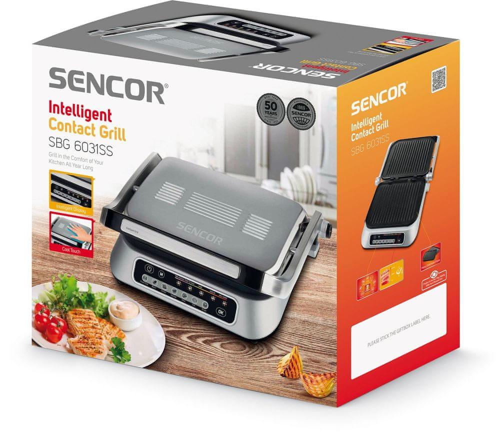 SENCOR SBG 6031SS Kontaktní gril Automatic XL