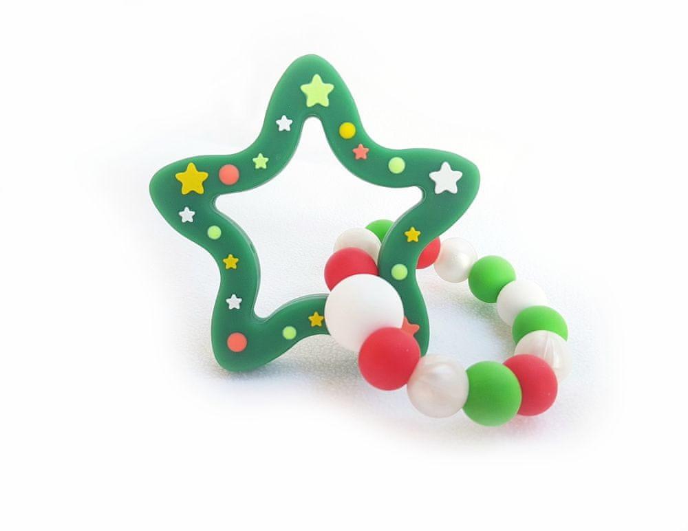 KidPro Silikonové kousátko: Vánoční hvězda