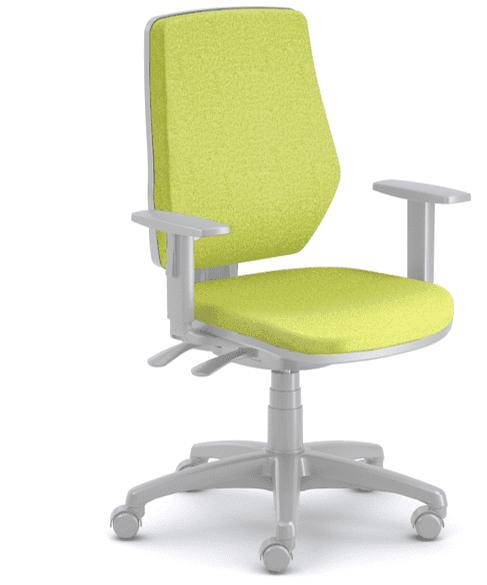 Emagra kancelářská židle LEX šedý plast - zelená